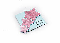 """Детская эластичная повязочка для волос сглиттерными розовыми звездами «Звездочка"""""""