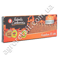Разжигатель в брикетах 2 в 1 PCC 12 шт