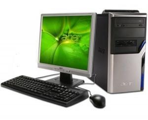 Компьютер в сборе, Core i7-2600, до 3.40 ГГц, 8 Гб ОЗУ DDR3, HDD 1000 Гб, монитор 17 дюймов
