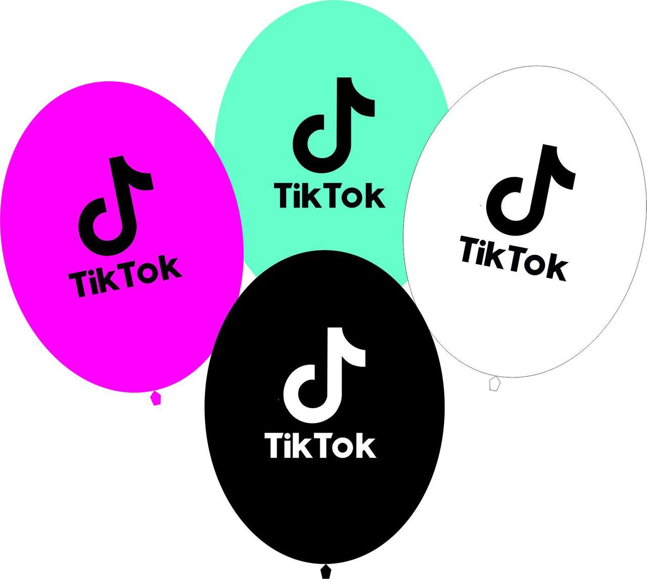 """Воздушные шарики Tik Tok 10"""" (100 штук)"""