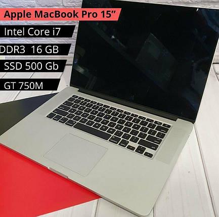 НОУТБУК Apple MacBook Pro 15 (Late 2013 Intel Core i7 4x3.50 Ghz / DDR3 16 Gb /SSD 500 Gb/ GT750M), фото 2