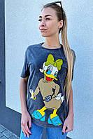Интересная футболка с принтом-накатом Поночка, фото 1
