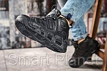 Кроссовки женские 14771, Nike Air Uptempo, черные, < 39 41 > р. 39-25,4см., фото 3