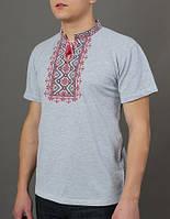 Трикотажна вишиванка Зорепад сіра, фото 1