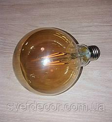 Лампа Эдисона светодиодная Filament G95 6W Е27 К2 (шар)