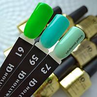 Гель лак 61 Зеленый Плотный Гель-лаки  HD Hollywood