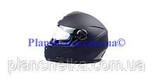 Шолом для мотоциклів Hel-Met 122 Blue чорний мат, фото 2