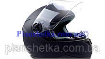 Шолом для мотоциклів Hel-Met 122 Blue чорний мат, фото 3