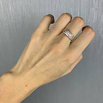 Золотое кольцо 585 пробы Б/У с фианитами, вес 3.53 г, фото 2