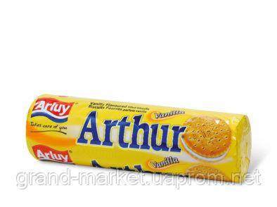Печенье сэндвич Arluy Arthur с ванильной начинкой 250г