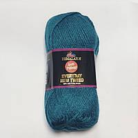 Пряжа антипиллинг EveryDay New Tweed Евридей Твид Himalaya Турция, Разные цвета. Бирюза