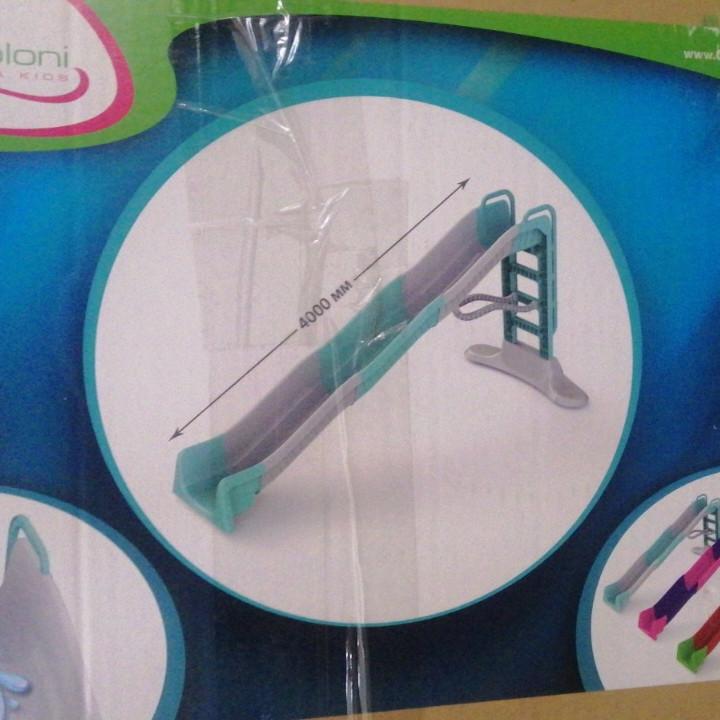 Горка 4 метра Долони для катания детей с водным эффектом  01450/4