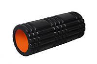 Массажный ролик PowerPlay, EVA, l-33см., d-14см., черный (PP_4025_Black/Orange)