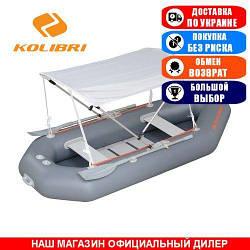Тент для надувной гребной лодки Kolibri K-280. (Лодочный тент на лодку 2,80м);