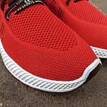Червоні шкарпетки чоловічі кросівки в стилі Adidas yeezy boost v2 шкарпетки на підошві тканина текстиль сітка, фото 2