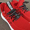 Червоні шкарпетки чоловічі кросівки в стилі Adidas yeezy boost v2 шкарпетки на підошві тканина текстиль сітка, фото 3
