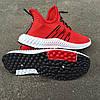 Червоні шкарпетки чоловічі кросівки в стилі Adidas yeezy boost v2 шкарпетки на підошві тканина текстиль сітка, фото 5