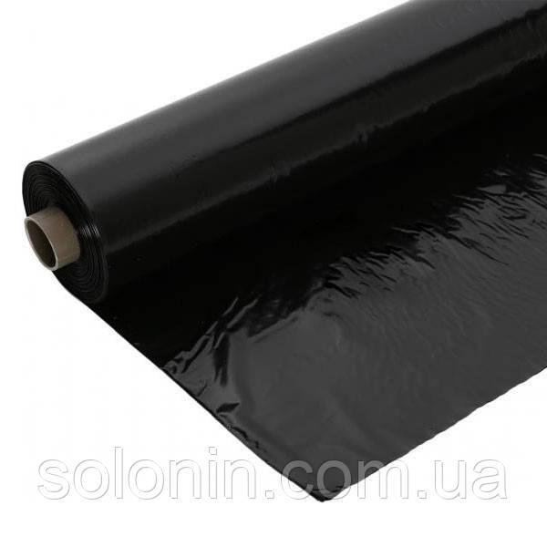 Пленка черная строительная 3000рукав (в розрезе 6м).
