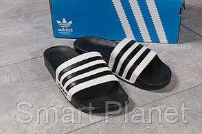Шлепанцы мужские 16282, Adidas, черные, < 44 > р. 44-28,7см.