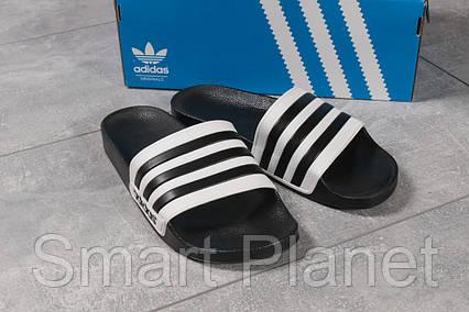 Шлепанцы мужские 16282, Adidas, черные, < 44 > р. 44-28,7см., фото 2
