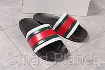 Шлепанцы мужские 16392, Gucci, черные, < 41 > р. 41-27,2см., фото 3