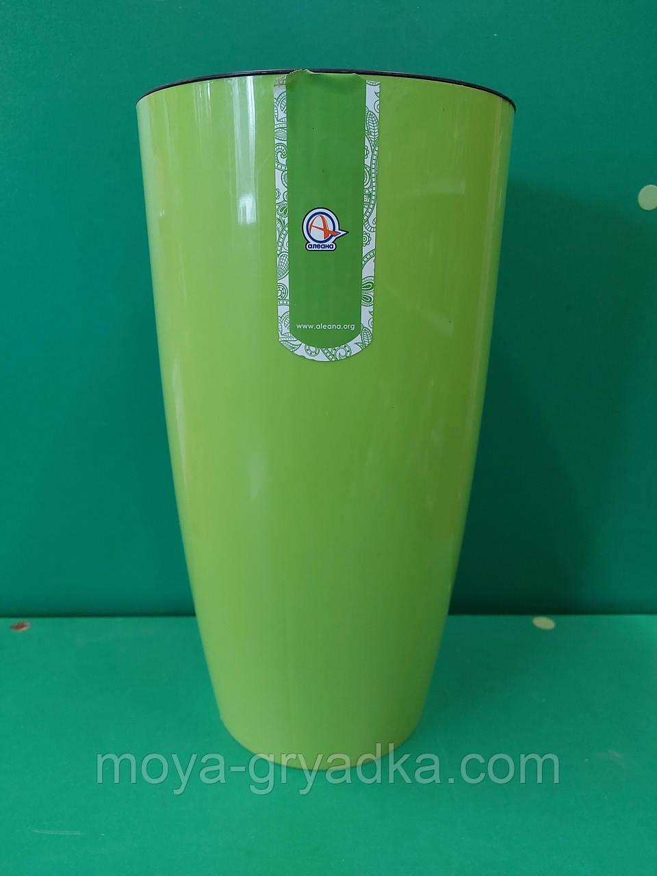Горщик для квітів та вазонів Альфа розмір 16*30  колір Оливковий