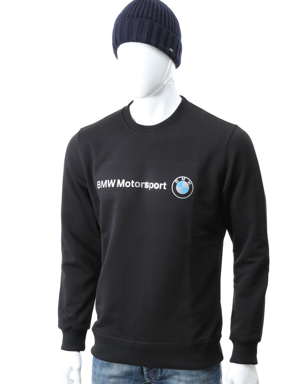 Свитшот осень-зима черный BMW с принтом BLK S(Р) 19-506-003