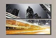 Картина модульная на холсте Ночной город 2 HAD-011
