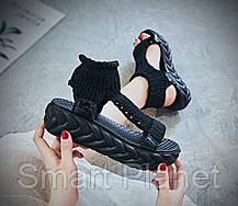 Сандалии женские 16422, Tricot, черные, < 36 37 38 > р. 36-22,5см., фото 3