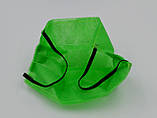 Захисна маска для особи одноразова 3-х шарова з матеріалу спанбонд колір - зелений, фото 2