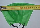 Защитная маска для лица  одноразовая 3-х слойная из  материала спанбонд цвет - зелёный, фото 3