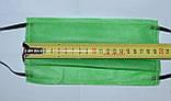 Защитная маска для лица  одноразовая 3-х слойная из  материала спанбонд цвет - зелёный, фото 4