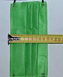 Захисна маска для особи одноразова 3-х шарова з матеріалу спанбонд колір - зелений, фото 5