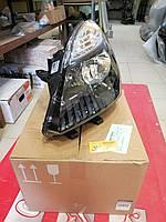 Фара главного света передняя левая черная Renault Scenic 3 (Original 260606760R)