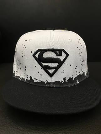 Кепка унисекс Superman (black with white), фото 2