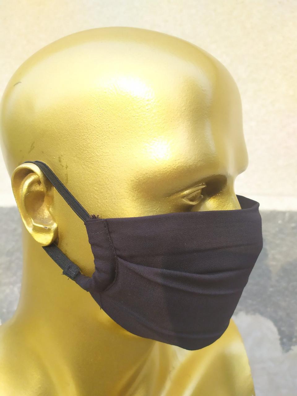 Пітта-маска NeoStripe багаторазова 3-шарова (100% віскоза з неопренової вставкою) (NS100301B)
