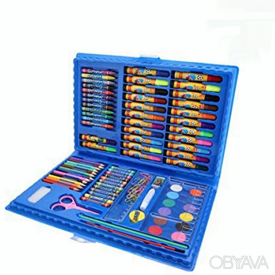 Детский набор для рисования 86 предметов Синий