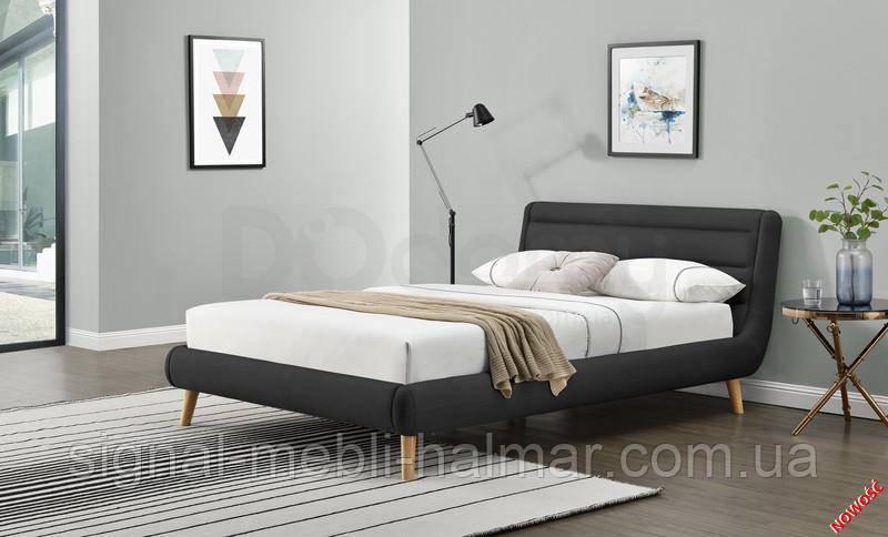 Кровать ELANDA 140 Темно-серый halmar