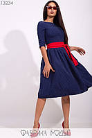 Женское стильное приталенное платье, фото 1
