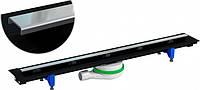 Душевой линейный канал, обрезной желоб EASY LINE CLASSIC 350-770 мм, хромированная решетка 280-700 мм PREVEX