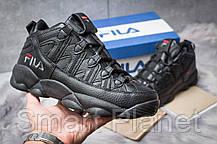 Зимние мужские кроссовки 30461, Fila Spaghetti, черные, < 42 > р. 42-26,2смсм., фото 2