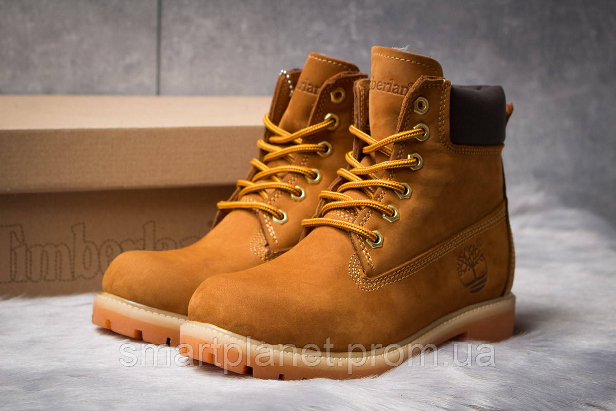 Зимние женские ботинки 30661, Timberland 6 Premium Boot, рыжие, < 36 37 39 40 > р. 36-24,0см.