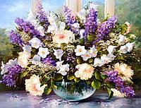 Алмазная вышивка на подрамнике Цветы для любимой 40 х 50 см (арт. TN772)