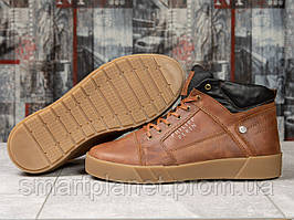 Зимние мужские ботинки 31131, Philipp Plein, рыжие, < 42 43 45 > р. 42-28,0см.