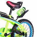 Детский двухколесный велосипед 16 дюймов SW-17006-16 салатовый светящиеся переднее колесо, фото 2