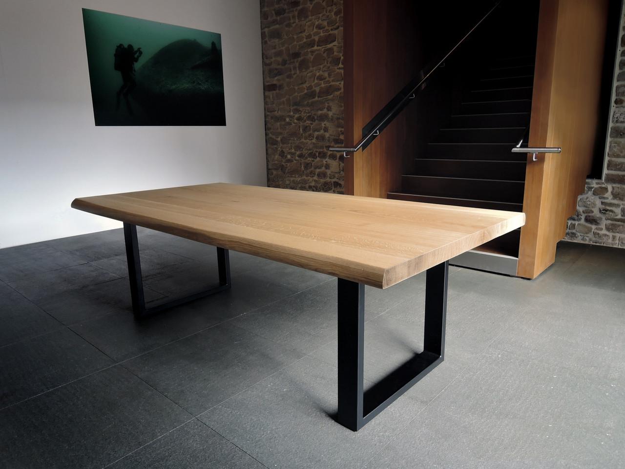 """Стол из дерева """"Quadro"""" из массива ясеня в стиле LOFT"""