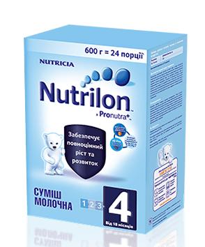 Nutrilon 4, 600 г с 18 мес. сухая смесь