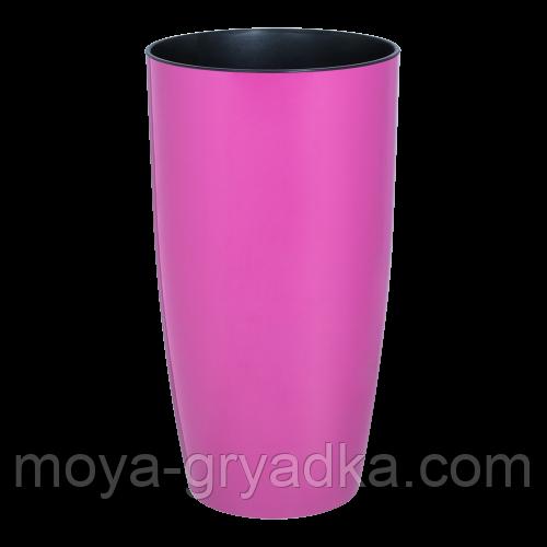 Горщик для квітів та вазонів Альфа розмір 22*41,5  колір Рожевий