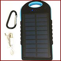 Внешний аккумулятор Power Bank Solar 20000 mAh солнечное зарядное устройство повер банк синий SKL11-178310