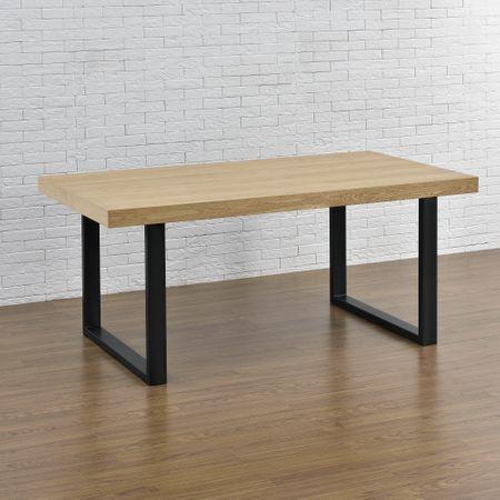 """Прямоугольный стол из дерева """"Quadro II"""" из массива ясеня в стиле LOFT"""